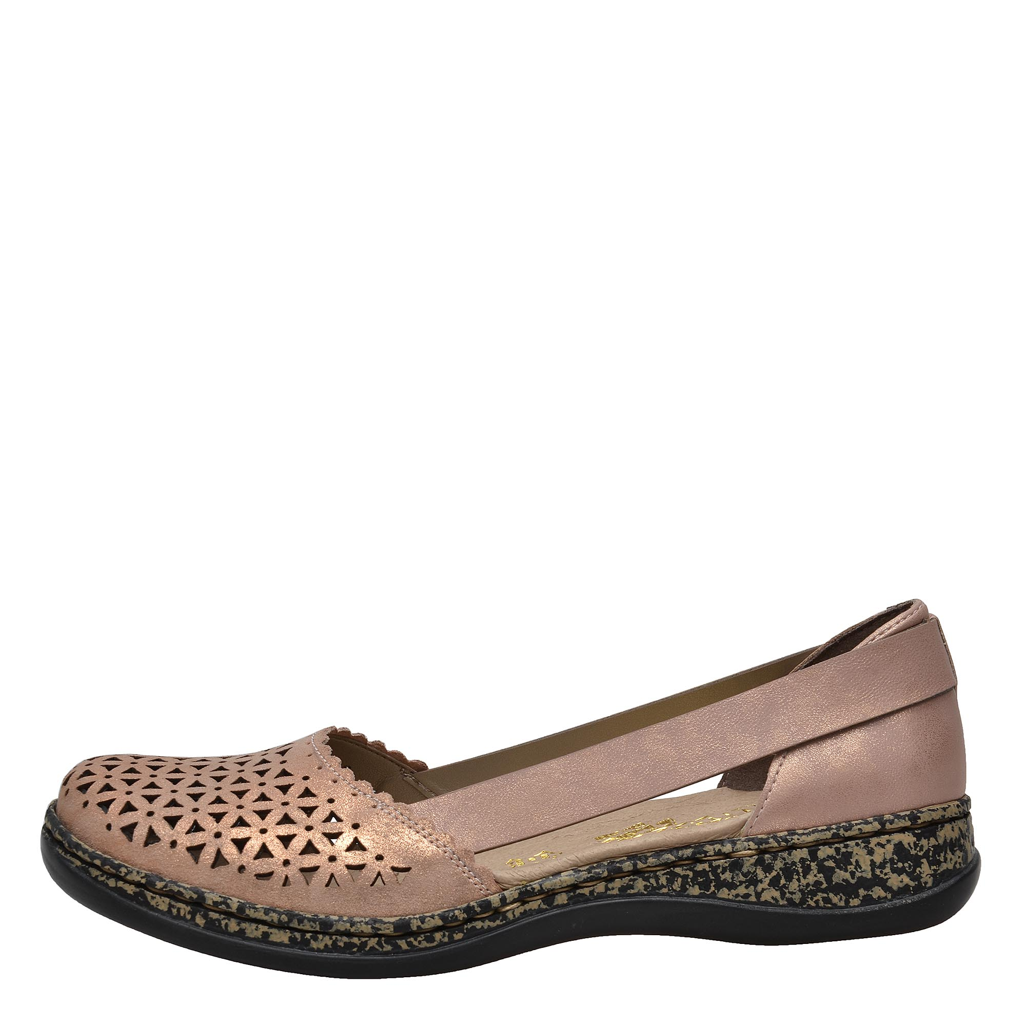 926eb642f9aad Dámská obuv RIEKER 46387/31 ROSA GOLD F/S 8 | Rieker obuv