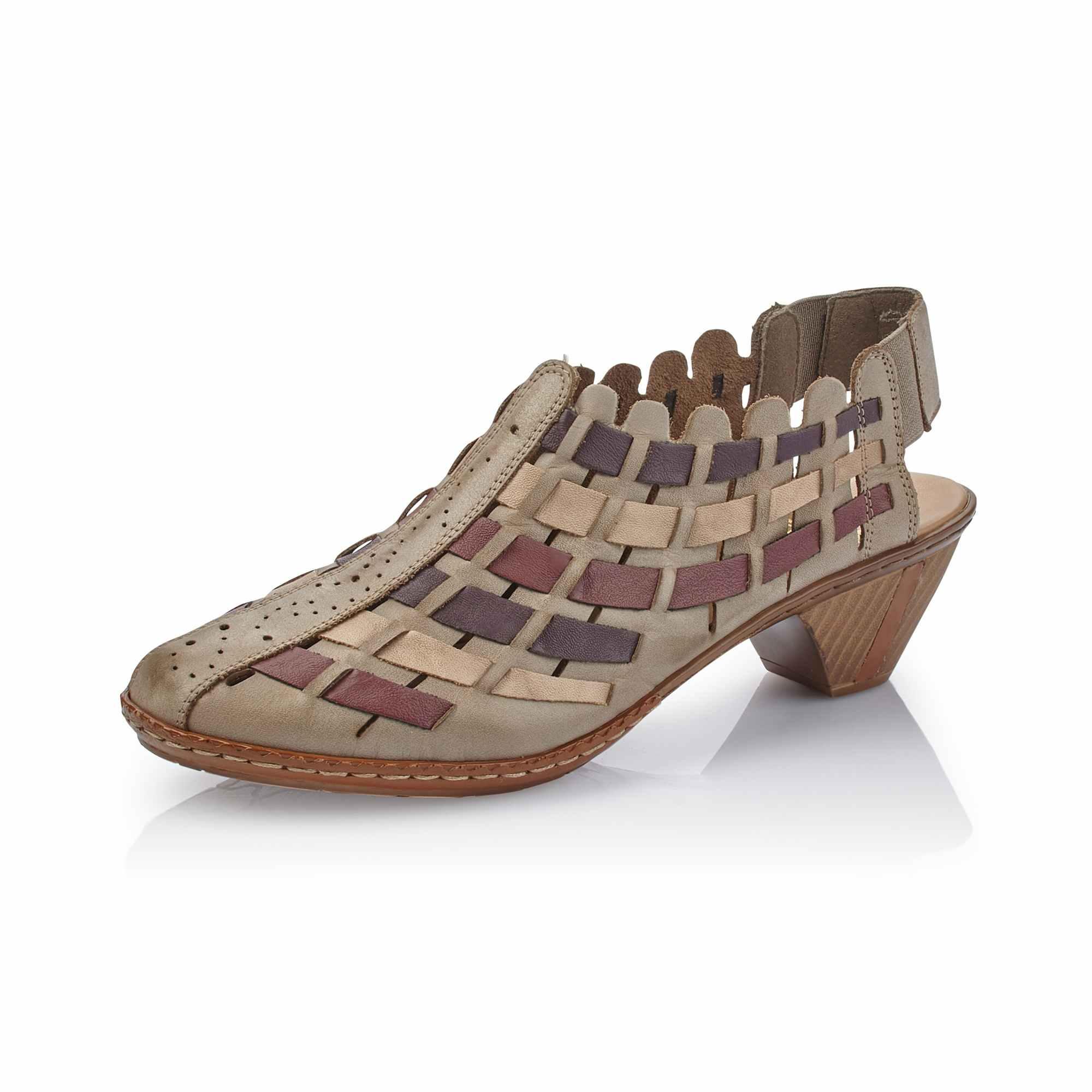 Dámská obuv RIEKER46778-62 BEIGE KOMBI F S 9  293aa2cc2ff