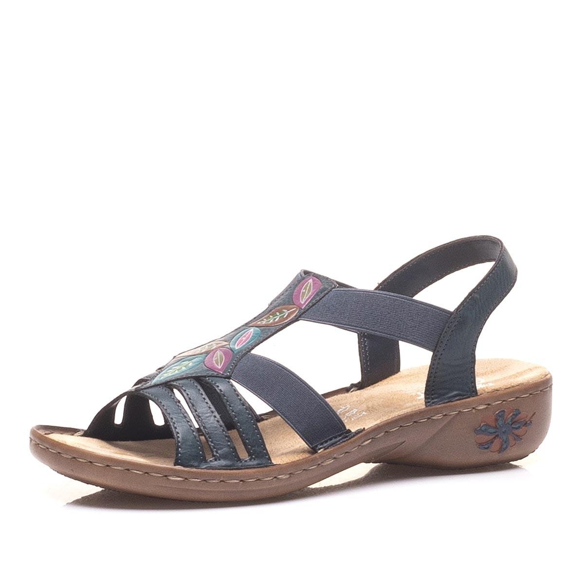 Dámská obuv RIEKER60171-14 BLAU F S 9  45931c3878