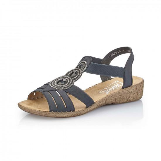 detail Dámská obuv RIEKER 61659-14 BLAU F S 9 02e3d16395