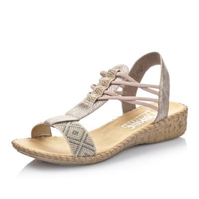 93002d51ec0 Dámská obuv RIEKER64278 60 BEIGE KOMBI F S 8