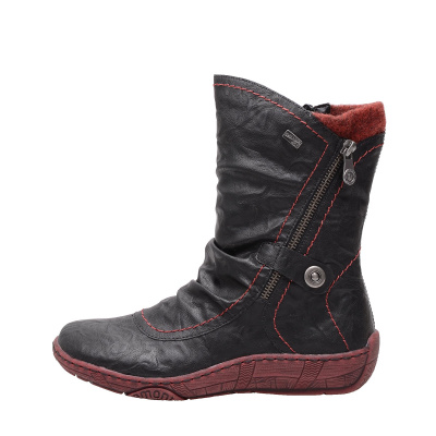 3ac3f36312f Dámská obuv RIEKER - REMONTE D3872 02 SCHWARZ KOMBI H W 7