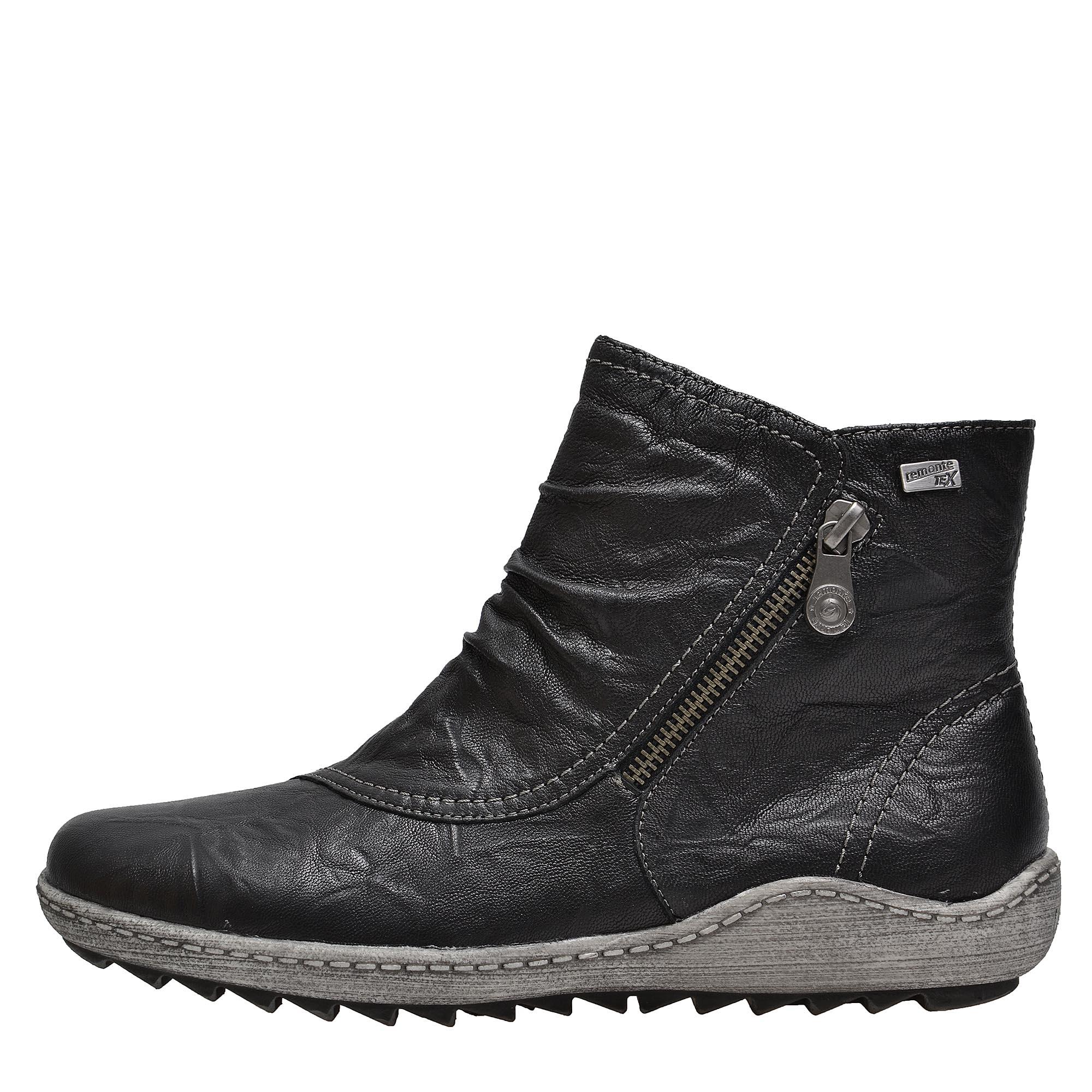 Dámská obuv RIEKER - REMONTER1475 01 SCHWARZ H W 8  347a2f04b3b