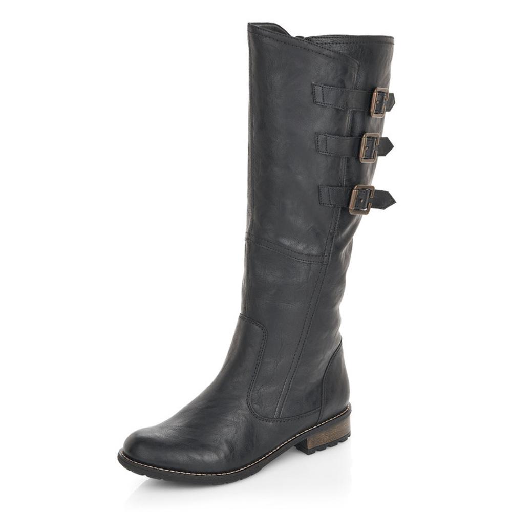 ae3460f2a6a6 detail Dámská obuv RIEKER - REMONTE br R3370 01 SCHWARZ H W