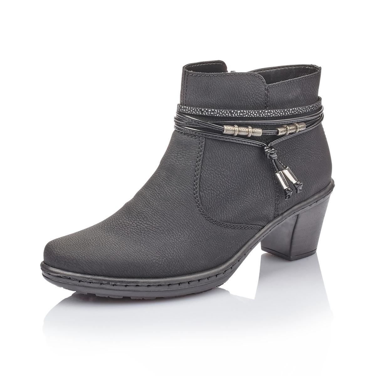Dámská obuv RIEKER54953 00 SCHWARZ KOMBI H W 8  f954e1edf17