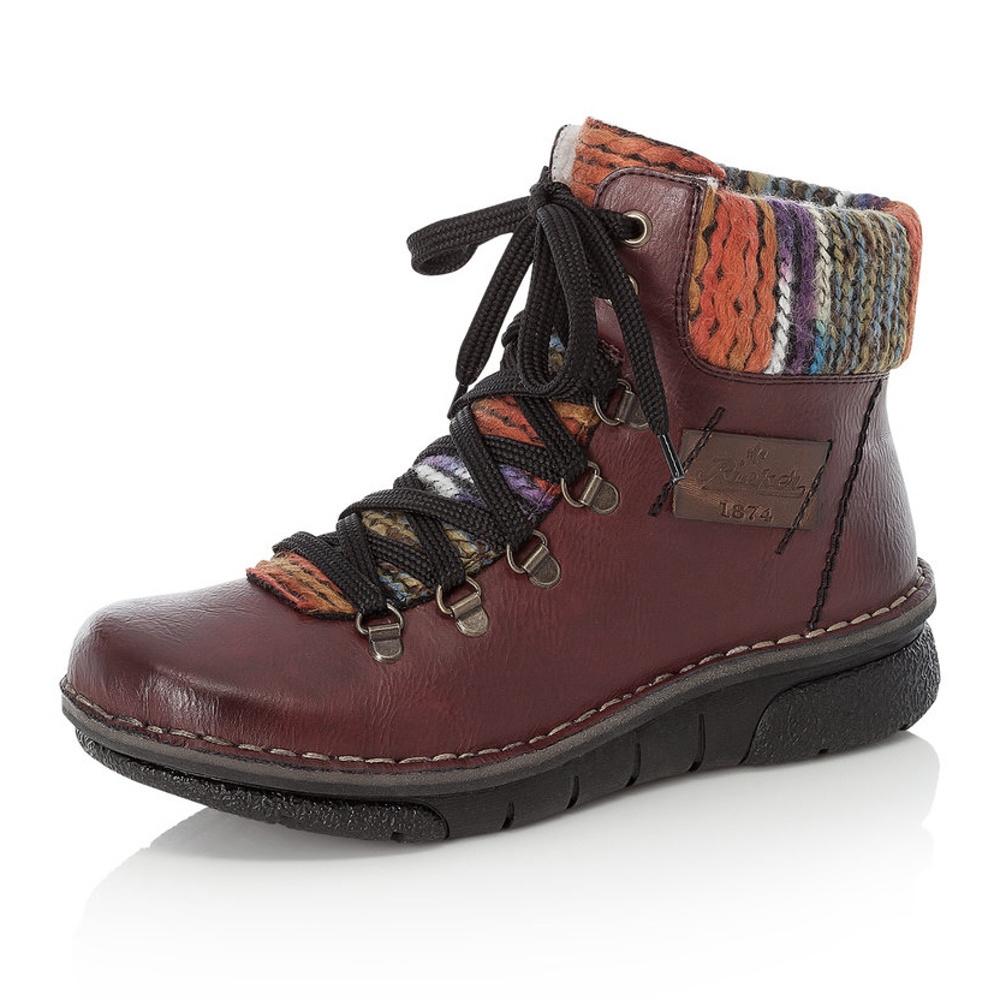 Dámská obuv RIEKER73343 35 ROT KOMBI H W 8  72df0a7e85d